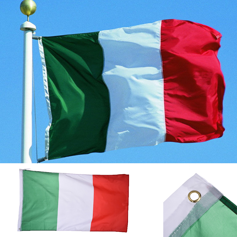 Italy Country Large Flag 3x5 Feet Polyester Italian