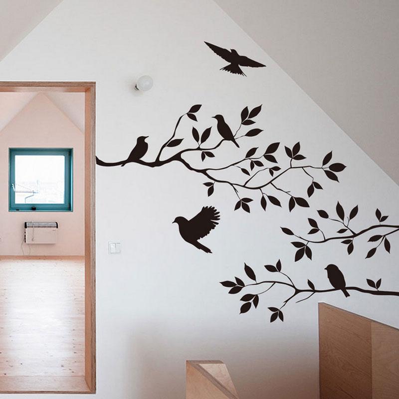DIY Tree Branch Bird Art Wall Decal Decor Room Stickers Vinyl Home Mural Art