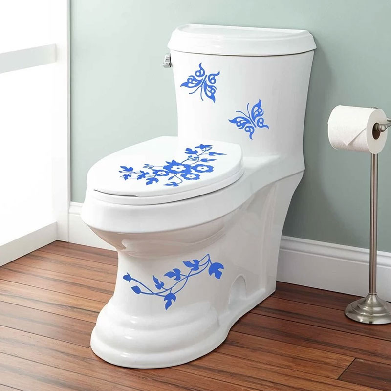Removable diy toilet seat wc bathroom art vinyl home decals decor wall sticker ebay - Decor wc ...