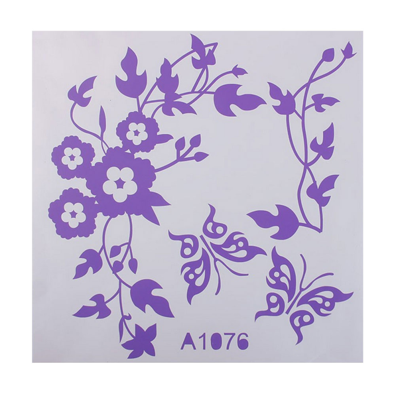 Lovely Flower Butterfly Bathroom Toilet Seat Wall Decal