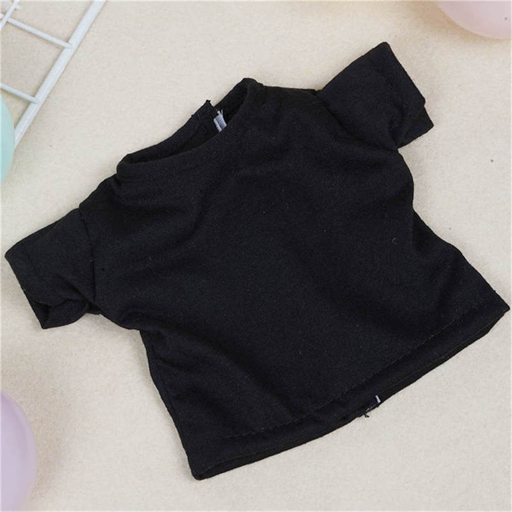 Cool Black Model Short Sleeve T-shirt Clothes For 18Inch Doll Girl Price Lo X2N6