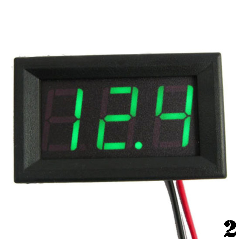 Small Digital Voltmeters Dc : Small voltmeter tester digital voltage test battery dc