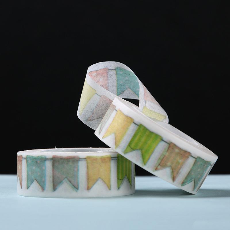 10pcs color flag washi tape diy decor scrapbooking masking for Decoration masking tape