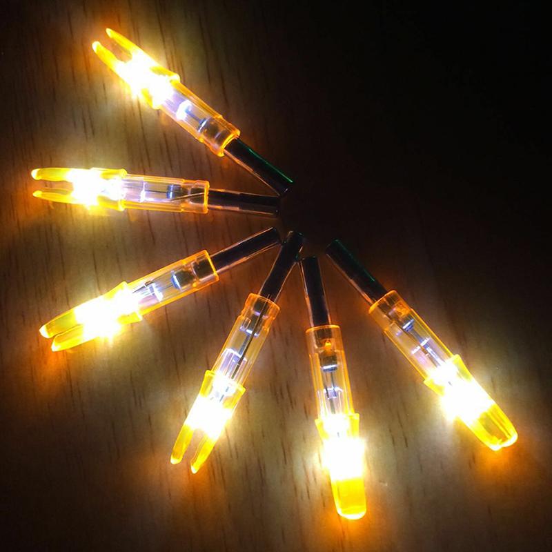 12 6pcs Colored Hunting Lighted Nock Led Light Luminous