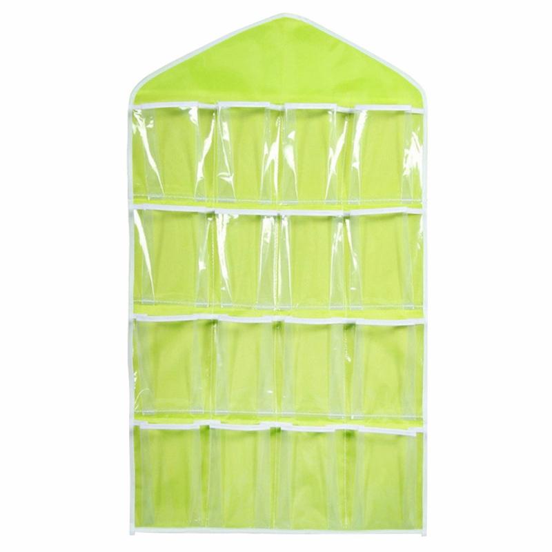 16 pockets clear over door hanging bag shoe rack hanger storage organizer bags ebay. Black Bedroom Furniture Sets. Home Design Ideas