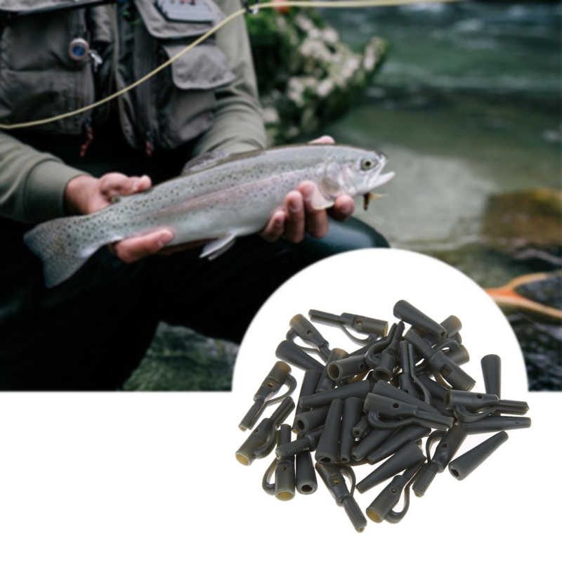 20 Satz Durable Strong Fishing Back Lead Clips Karpfen Tu Angeln Tackle Mit M3E5