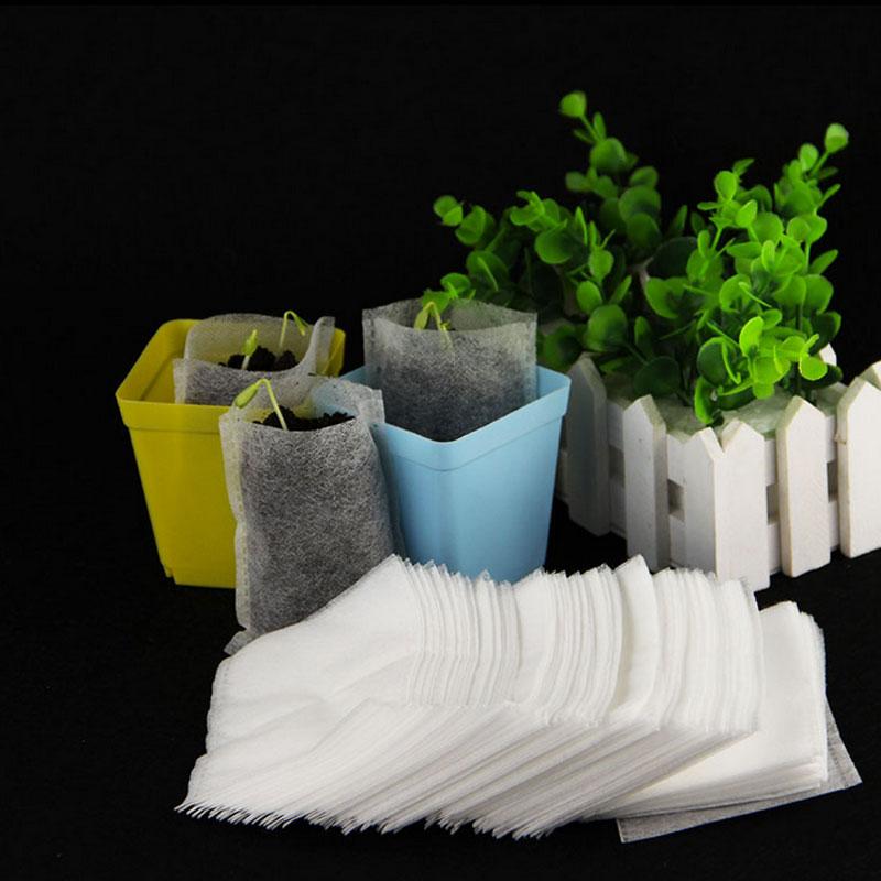 100 Pc//Lot Nursery Töpfe Pflanzen-Faser Sämling-Raising Beutel Garten