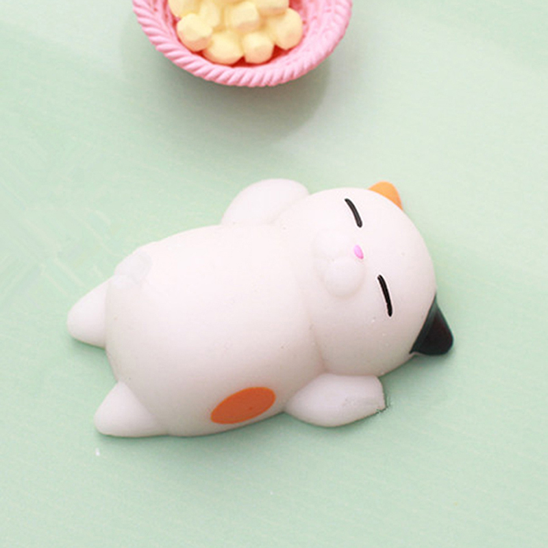 Cute Expression Cat Ball Squishy Soft Bread Cell phone Straps Bun Key Chains Hot eBay