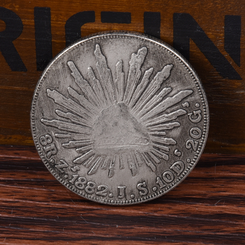 1882 Mexican Republic Silver Dollar Commemorative Coin