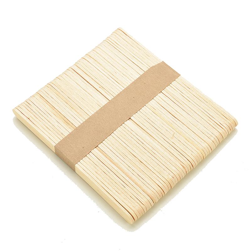 100pcs Natural Wood Popsicle Sticks Wood Bulk Original Sticks Timber Hot N3Q4