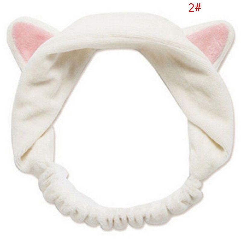 Frauen stilvolle lässige Katze Ohren Haarband Bad Sport Haarband Make-up U9H2