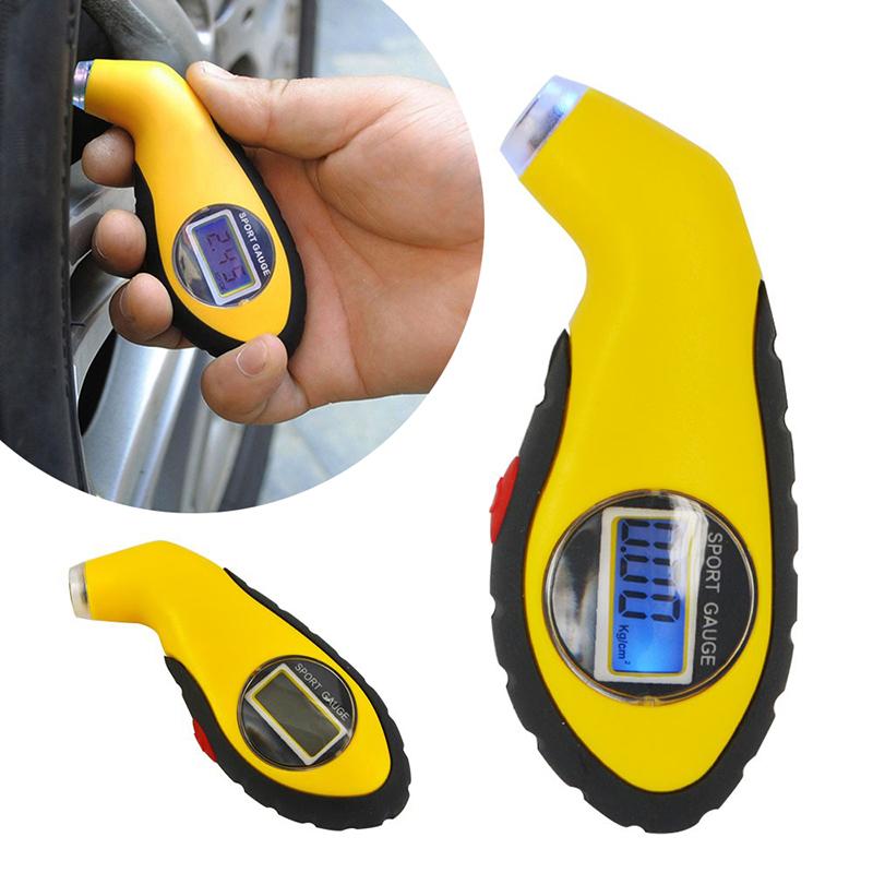Digital Reifendruckmesser Luftdruckprüfer  Reifendruckprüfer Messgerät LCD