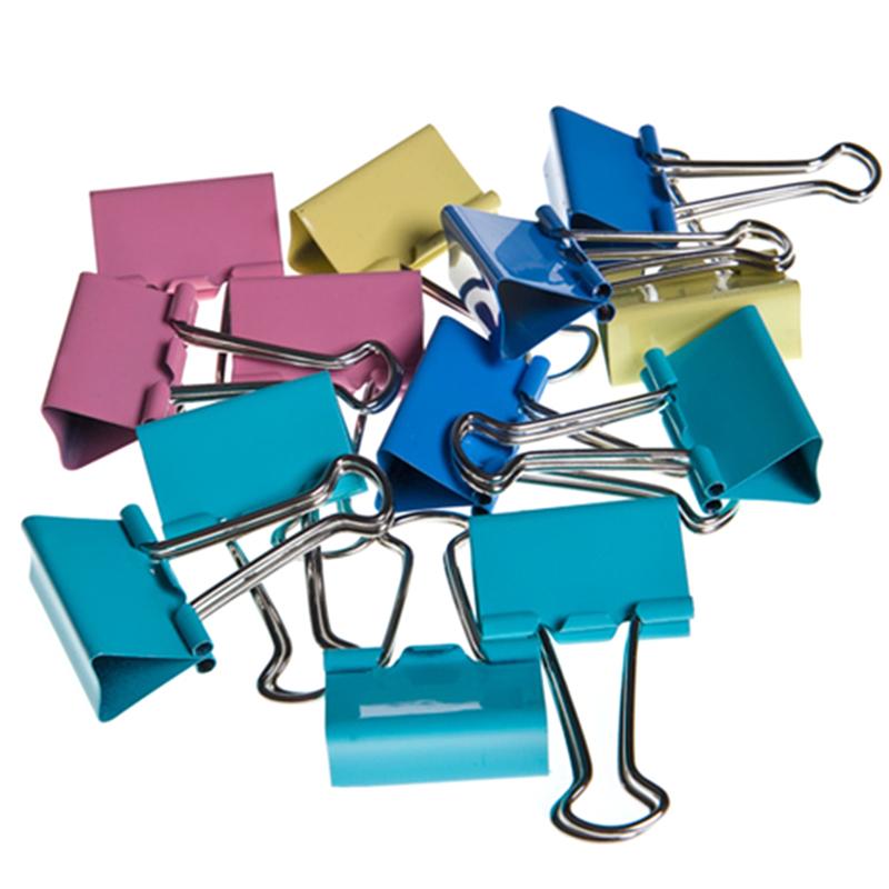 60 Stücke 15mm Bunte Metall Binder Clips Datei Büroklammer Halter Bürobedarf ZP