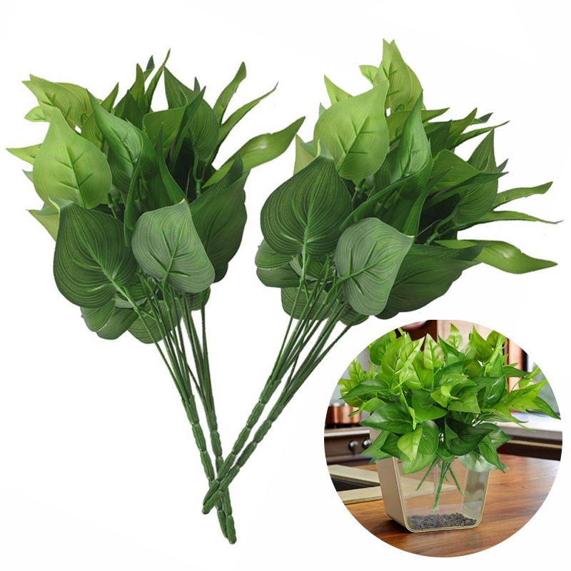 plantes vertes fausses feuilles artificielles maison jardin fleur bonsa d cor. Black Bedroom Furniture Sets. Home Design Ideas