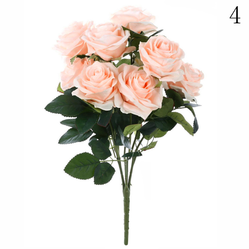 5 Wedding Bouquet Etiquette Questions You Need To Read: 10 Head Artificial Fake Silk Rose Wedding Bridal Flowers