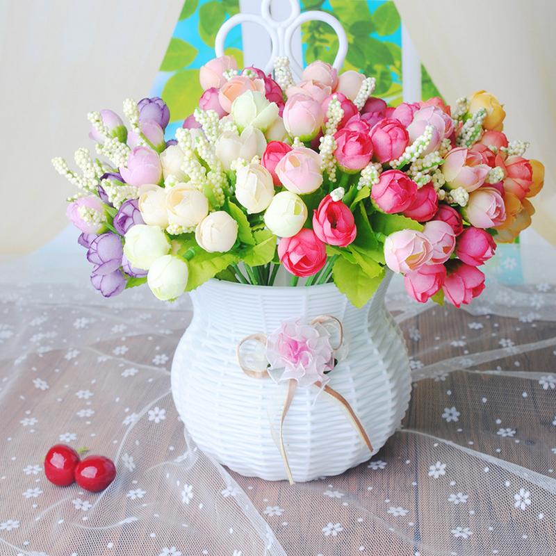 15Heads Kunst Pfingstrose Blumen Kunstblumen Künstliche Pflanzen-Blumenstrauß S+