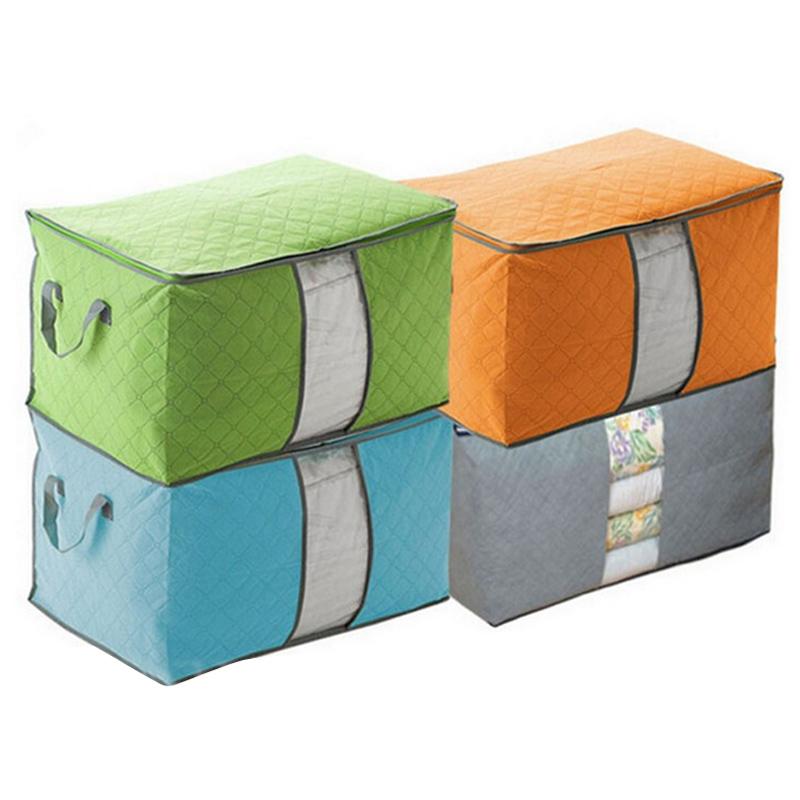 Faltende holzkohle bambus kleidung aufbewahrungsbox tasche for Schrank organizer