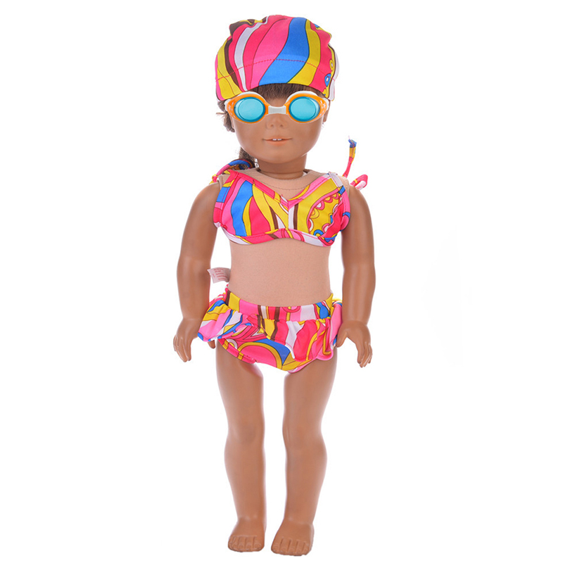 1pc summer mini doll swimwear cap swimsuit for 18 inch for Garden tools for 18 inch doll
