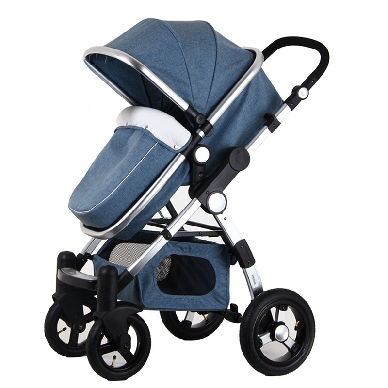 luxury baby stroller 3 in1 high view pram foldable pushchair bassinet car seat ebay. Black Bedroom Furniture Sets. Home Design Ideas