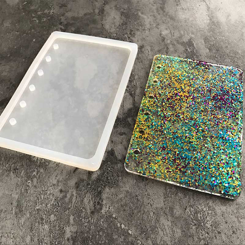 Epoxy Mold Making : Diy notebook silicone mold epoxy resin casting jewelry