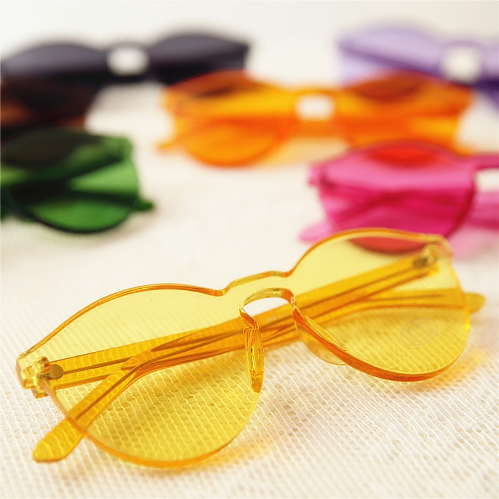 Unisex Transparent Sunglasses No Frame Frameless Clear ...