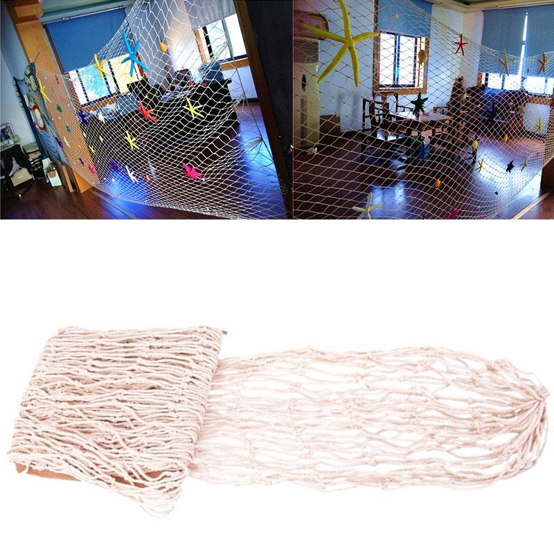 fischernetz beige dicke baumwolle deko netz badezimmer wand deko muschel mode. Black Bedroom Furniture Sets. Home Design Ideas