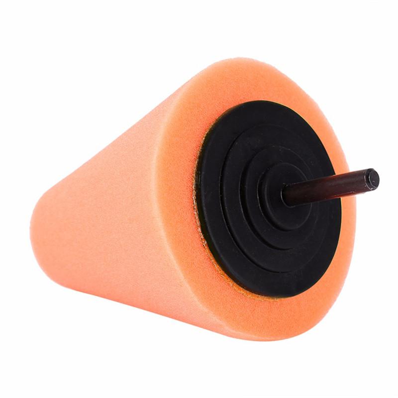 1x Sponge Cone Metal Polishing Foam Pad Wool Buffing: Professional Foam Polishing Cone Shaped Pad Car Auto Wheel