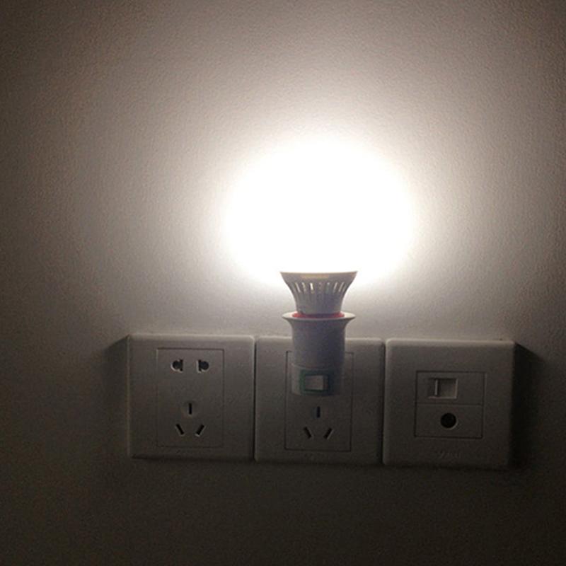E27 Light Socket To EU Plug Holder Adapter Converter Gift For Bulb-Lamp ON// F1B7