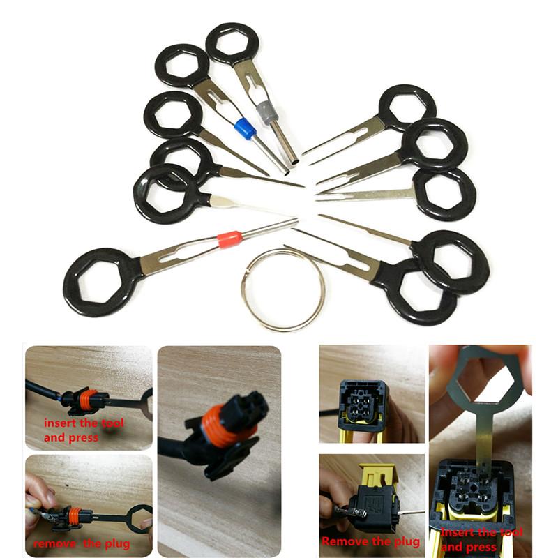 11tlg KFZ Stecker Auspinwerkzeug ISO Pin Lösewerkzeug Entriegelungswerkzeug-Set