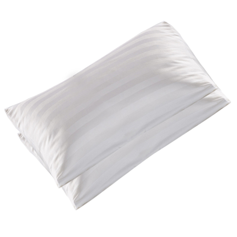100/% Cotton White Stripe Hotel Standard Pillowcases Bedding Covers 201 R8I8