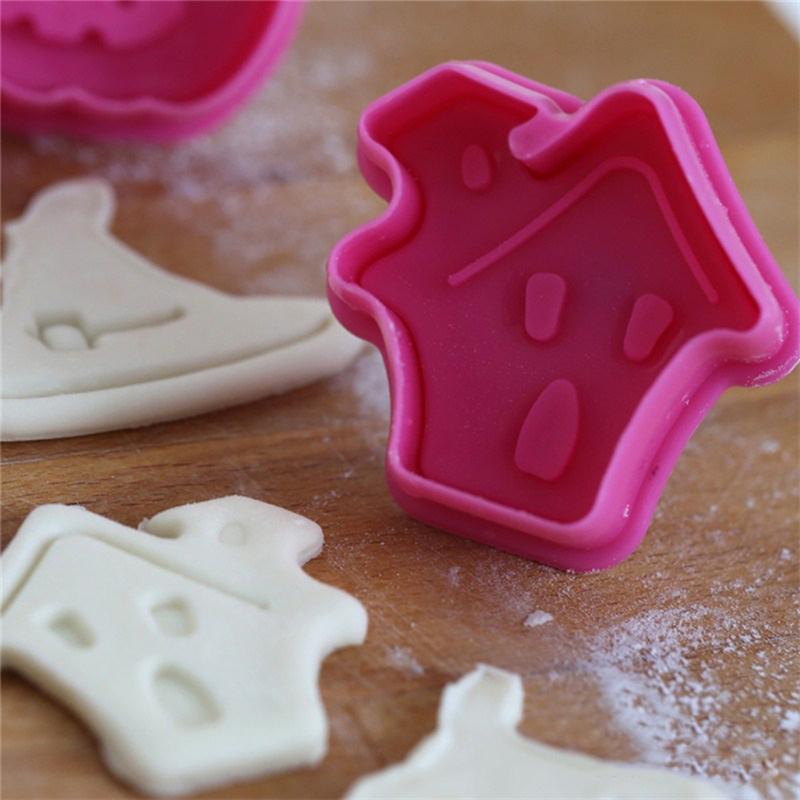 4 halloween k rbis plunger cutter form kuchen pl tzchen fondant dekorieren mould ebay - Platzchen dekorieren ...