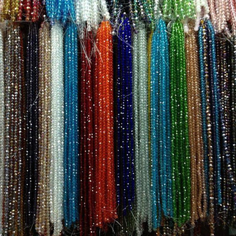 Wholesale à Facettes Vert Blotter Verre Perles Cristal 100pcs 4*6mm
