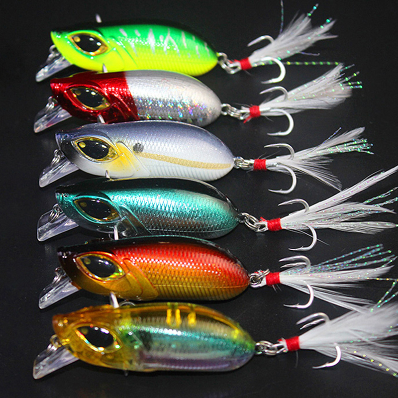 Plastic Minnow Fishing Lures Bass Crankbait Gift Tackle 7.52cm Bes Y9Z0