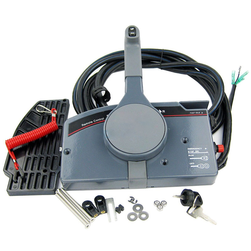 Pull throttle outboard remote control box 703 for yamaha for Yamaha 703 remote control assembly