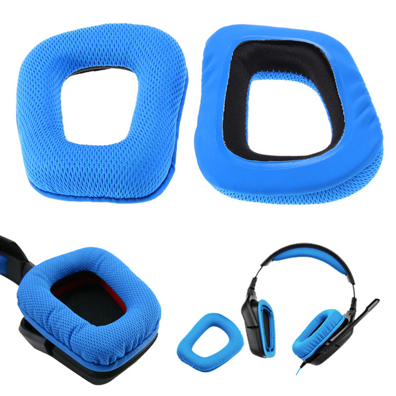 2 Ear Pads Cushion Replacement For Logitech G35 G930 G430 F450