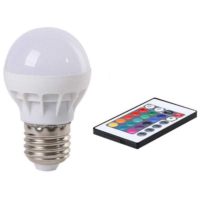 E27 RGB LED Lampe Licht Dimmbar Farbwechsel Glühbirne Fernbedienung ...