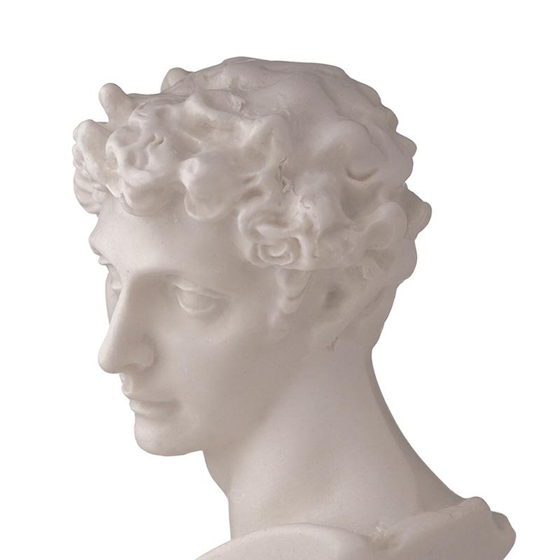 1//12 Dolls House Miniature Resin Statue of David Sculpture White Decor Gift!