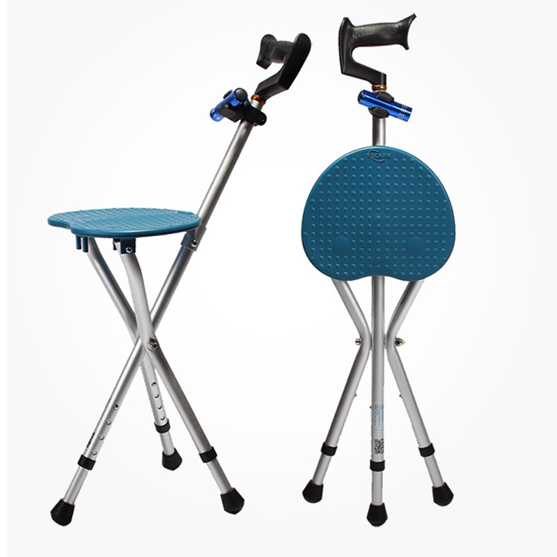 Medical Cane Seat With Walking Stick Adjustable Chair