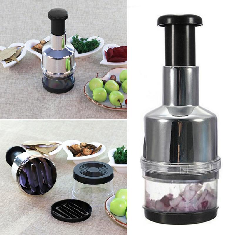 Stainless Fruit Salad Vegetable Onion Hand Chopper Slicer Kitchen HOT SELL