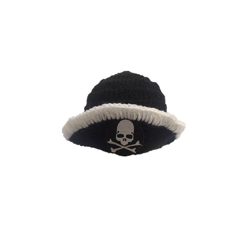 Newborn Baby Pirate Hat Crochet Knit Cap Costume Photo Photography Props Ou I0M0