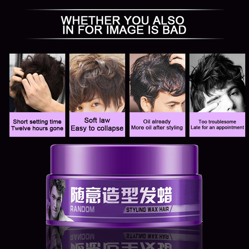 Hair Pomade Strong Style Restoring Hair Wax Skeleton Cream Styling