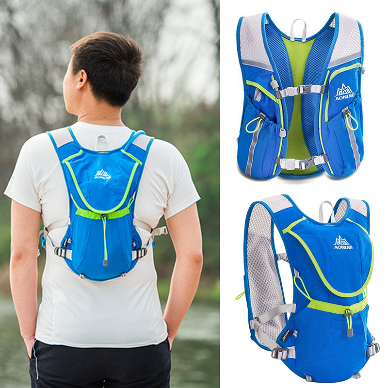 8b525636ba51 Details about Outdoor Running Backpack for Sports Neutral Fitness Bag  Hydration Vest Pack