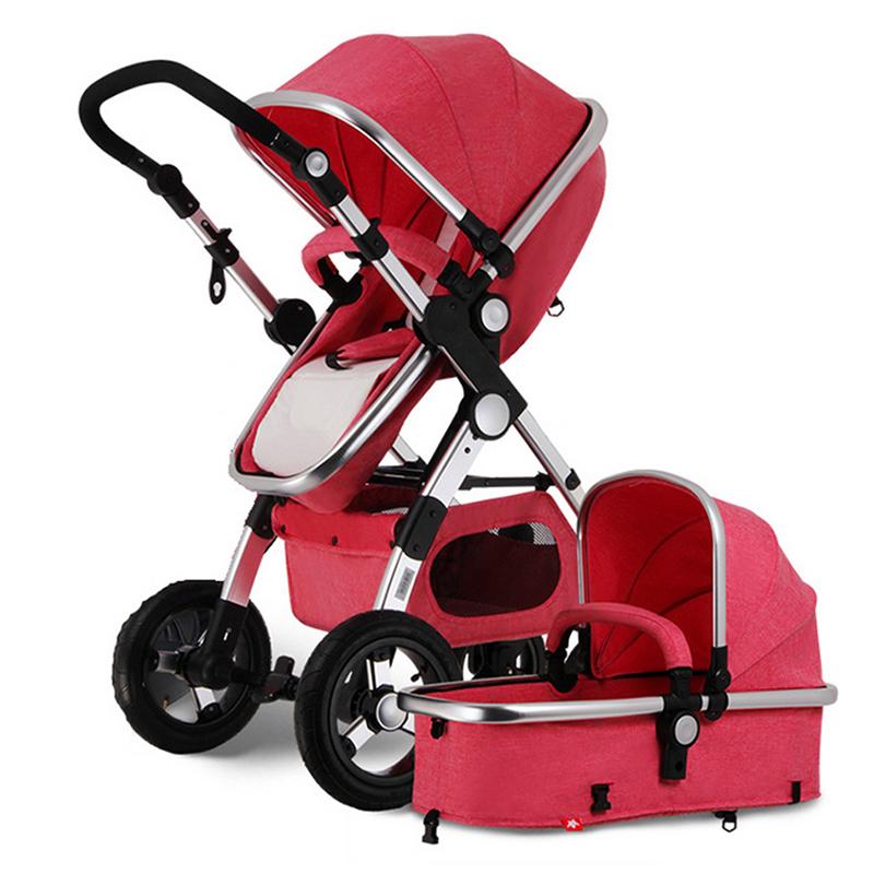 3 in 1 high view baby stroller pram foldable pushchair bassinet car seat udww ebay. Black Bedroom Furniture Sets. Home Design Ideas