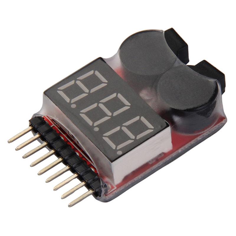1-8S Buzzer Lipo Alarm Warner Schutz Checker Voltage LED Buzzer E2W0 Pieper T2H6