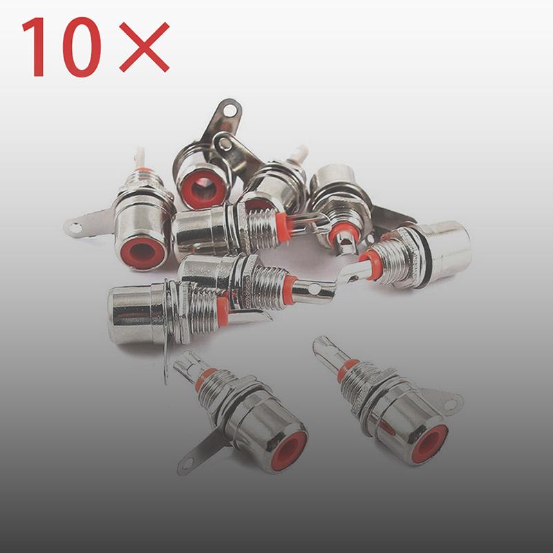 10stk Cinch Einbaubuchse Rot RCA Buchsen-Hochwertig-Chinch/_ N8A