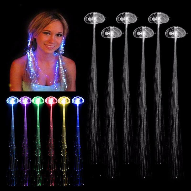 2X Leuchtende Led Haar Extension LED Haar-Accessoires Kinder Party Neu I6D0