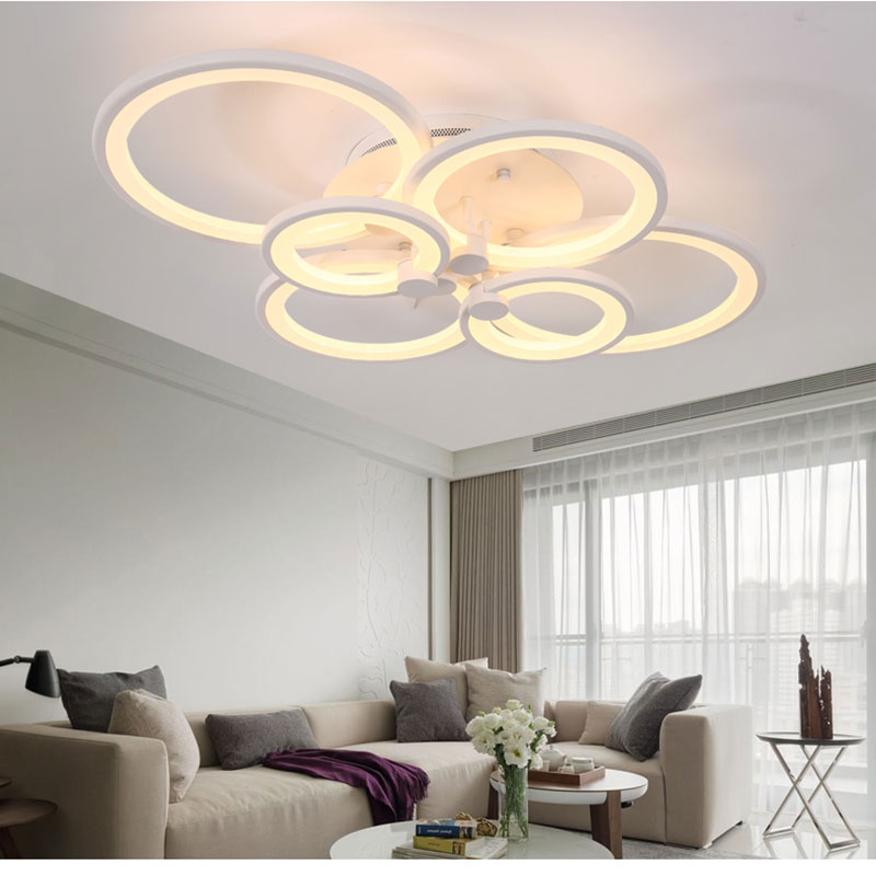 Modern bedroom remote control living room acrylic 4 8 led ceiling package 1 pcs chandelierwith remote control in a pack aloadofball Images
