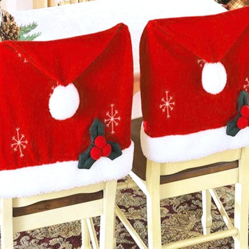 stuhlhussen stuhl husse weihnachtsm tze weihnachtsdeko. Black Bedroom Furniture Sets. Home Design Ideas