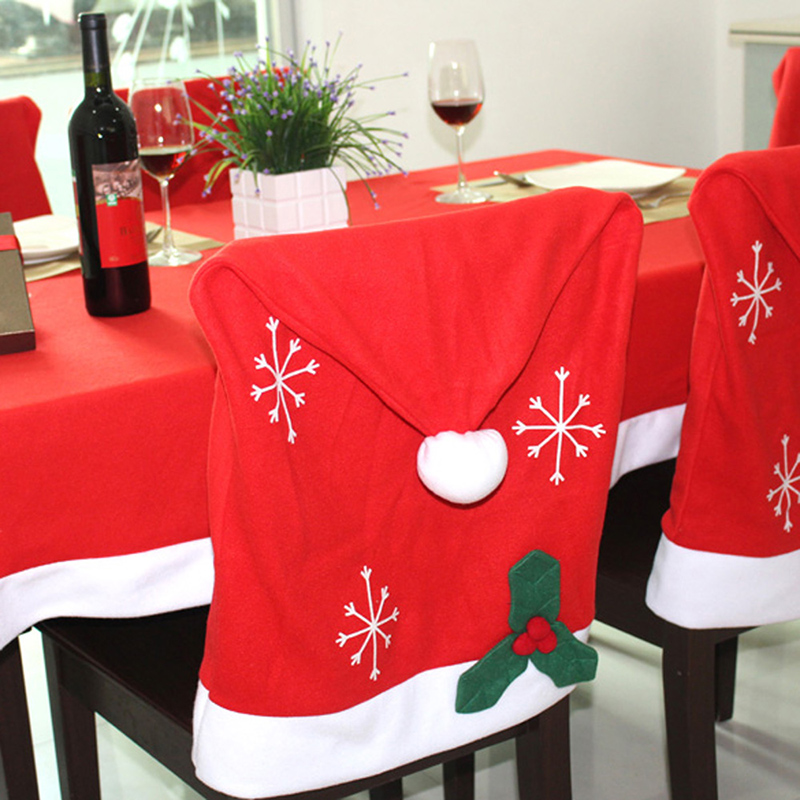 Weihnachtsdeko Stuhl.Möbel Wohnen Stuhlhussen Stuhl Husse Weihnachtsmütze