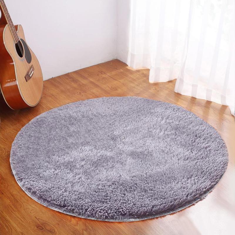 Runde Shaggy Teppich Anti Rutsch Flauschige Esszimmer